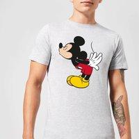 Disney Mickey Mouse Mickey Split Kiss T-Shirt - Grey - 3XL