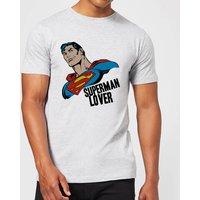 DC Comics Superman Lover T-Shirt - Grey - XL - Black - Superman Gifts