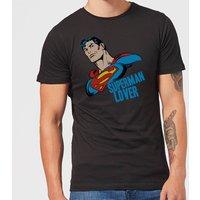 DC Comics Superman Lover T-Shirt - Black - L - Black - Superman Gifts