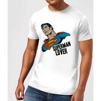 DC Comics Superman Lover T-Shirt - White - XXL - Black - Superman Gifts