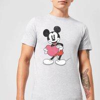 Disney Mickey Mouse Heart Gift T-Shirt - Grey - 4XL - Grey