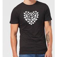 Disney Mickey Mouse Heart Silhouette T-Shirt - Black - M - Black
