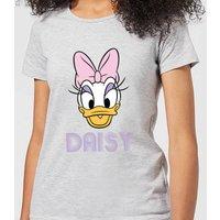 Disney Mickey Mouse Daisy Face Women's T-Shirt - Grey - S - Grey