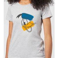 Disney Mickey Mouse Donald Duck Head Women's T-Shirt - Grey - 3XL