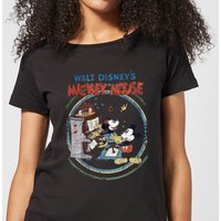 Disney Mickey Mouse Retro Poster Piano Women's T-Shirt - Black - XL - Black - Music Gifts