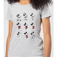 Disney Mickey Mouse Evolution Nine Poses Women's T-Shirt - Grey - S - Grey