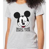 Disney Mickey Mouse Since 1928 Women's T-Shirt - Grey - S - Grey
