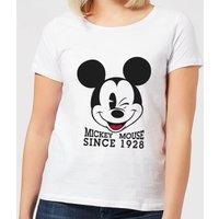 Disney Mickey Mouse Since 1928 Women's T-Shirt - White - S - White