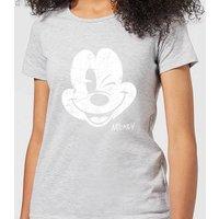 Disney Mickey Mouse Worn Face Women's T-Shirt - Grey - S