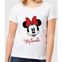 Disney Mickey Mouse Minnie Face Women's T-Shirt - White - XL - White