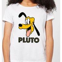 Disney Mickey Mouse Pluto Face Women's T-Shirt - White - XXL - White