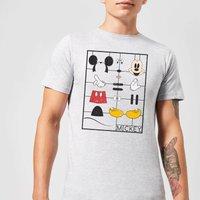 Disney Mickey Mouse Construction Kit T-Shirt - Grey - 3XL