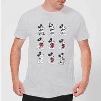 Disney Mickey Mouse Evolution Nine Poses T-Shirt - Grey - XXL - Grey