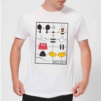 Disney Mickey Mouse Construction Kit T-Shirt - White - XL - White