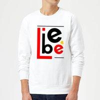 Liebe Block Sweatshirt - White - XXL - White