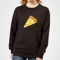 True Love Pizza Women's Sweatshirt - Black - L - Black