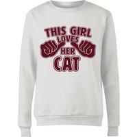 This Girl Loves Her Cat Women's Sweatshirt - White - XL - White