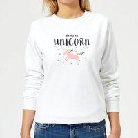 You Are My Unicorn Women's Sweatshirt - White - XL - White