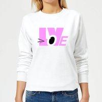 Love Wink Women's Sweatshirt - White - XL - White