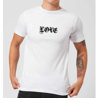 Love Gothic Text T-Shirt - White - XS - White