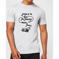 I'd Pause My Game For You (FR) T-Shirt - Grey - 4XL - Grey