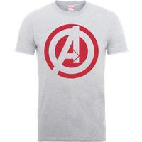 Marvel Avengers Assemble Captain America Logo T-Shirt - Grey - XXL - Grey