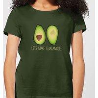 Lets Make Guacamole Women's T-Shirt - Forest Green - XL - Forest Green