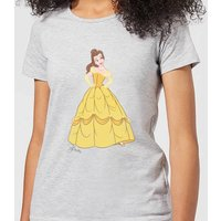 Disney Beauty And The Beast Princess Belle Classic Women's T-Shirt - Grey - S - Grey