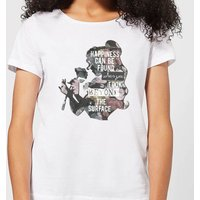 Disney Beauty And The Beast Happiness Women's T-Shirt - White - 5XL - White