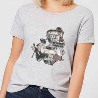 Disney Beauty And The Beast Happiness Women's T-Shirt - Grey - XXL - Grey