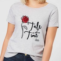 Disney Beauty And The Beast Tale As Old As Time Rose Women's T-Shirt - Grey - 4XL - Grey