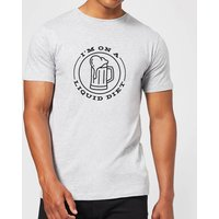 Liquid Diet Beer T-Shirt - Grey - XL - Grey - Beer Gifts