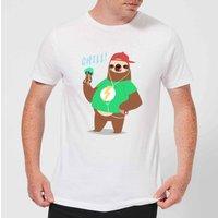Sloth Chill T-Shirt - White - 4XL - White