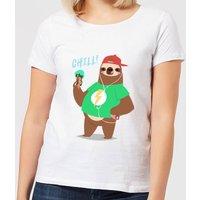 Sloth Chill Women's T-Shirt - White - 4XL - White