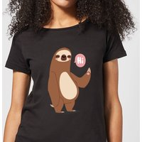Sloth Hi Women's T-Shirt - Black - XL - Black