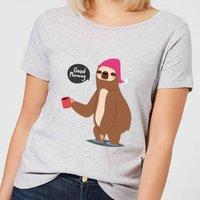 Sloth Good Morning Women's T-Shirt - Grey - XXL - Grey