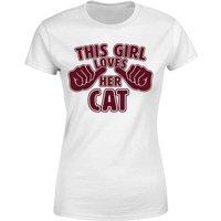 This Girl Loves Her Cat Women's T-Shirt - White - 4XL - White