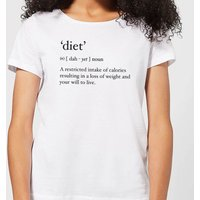 Dictionary Diet Women's T-Shirt - White - XXL - White