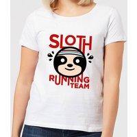 Sloth Running Team Women's T-Shirt - White - XL - White
