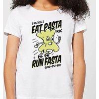 EAT PASTA RUN FASTA Women's T-Shirt - White - M - White