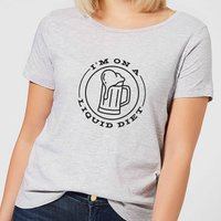 Liquid Diet Beer Women's T-Shirt - Grey - L - Grey - Beer Gifts