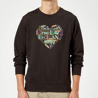 You Will Find Me In The Library Sweatshirt - Black - M - Black