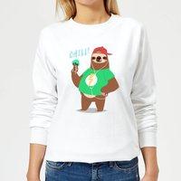 Sloth Chill Women's Sweatshirt - White - S - White