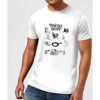 Pancake Recipe T-Shirt - White - S - White