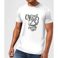Caution! I'm Hot T-Shirt - White - XS - White