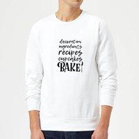 Baking Words Sweatshirt - White - L - White