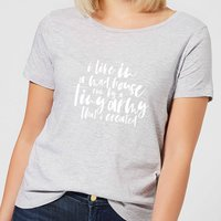 I Live In A Mad House Women's T-Shirt - Grey - XL - Grey