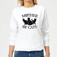 Mother Of Cats White Women's Sweatshirt - White - XS - White