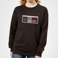 Nintendo NES Controller Chest Women's Sweatshirt - Black - XL - Black