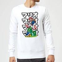 Nintendo Super Mario Piranha Plant Japanese Sweatshirt - White - L - White